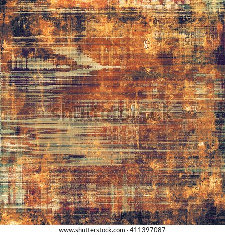 Creative vintage surface texture, close up grunge background composition. With different color patterns: yellow (beige); brown; red (orange); gray; purple (violet); black - stock photo