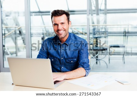 Creative webdeveloper working on a responsive web project - stock photo