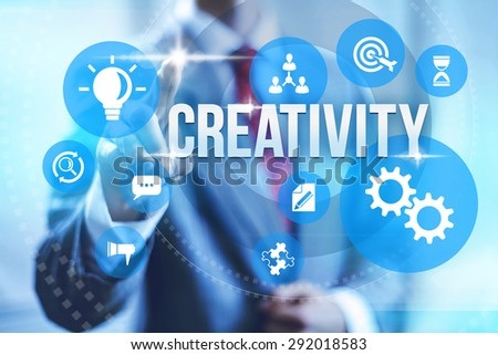 Creativity concept illustration creating value - stock photo