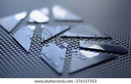 Credit and debit card - stock photo