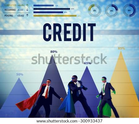 Credit Budget Loan Money Investment Balance Concept - stock photo