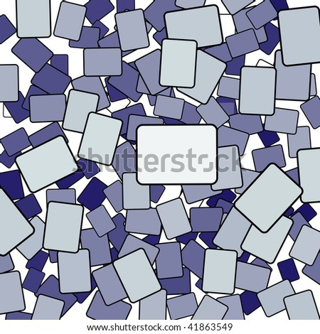 Credit Card Chaos as a jumbled group of many rounded rectangle shapes. - stock photo