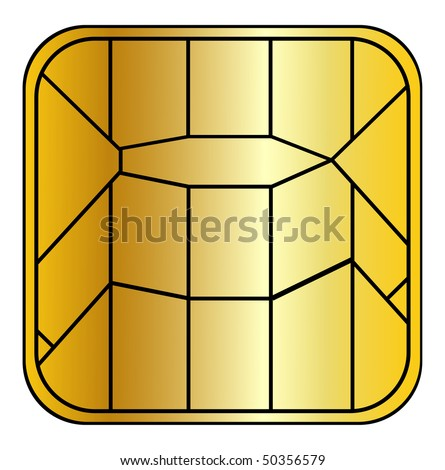 credit-card chip - stock photo