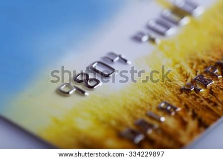 Credit card, close up - stock photo