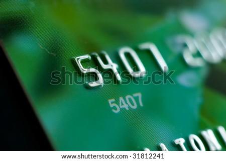 Credit card close-up, shallow DOF - stock photo