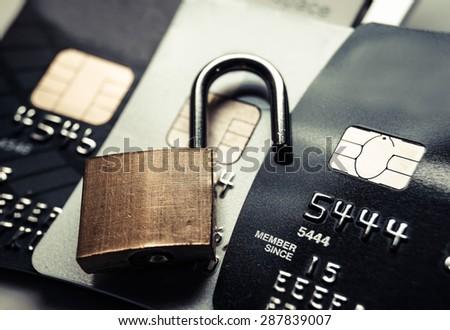 credit card data security breach - stock photo