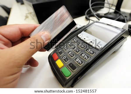 credit card internet shopping - stock photo