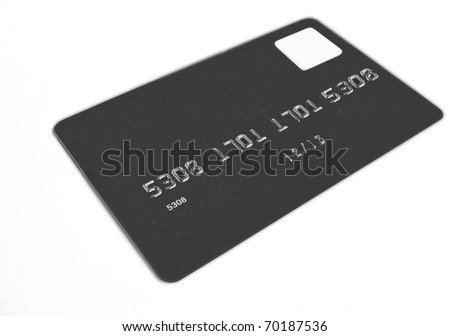 Credit card, isolated - stock photo
