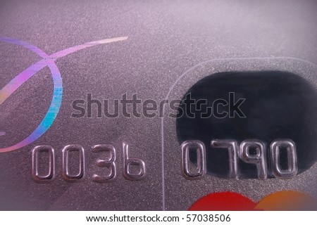 credit card macro extreme close up abstract - stock photo