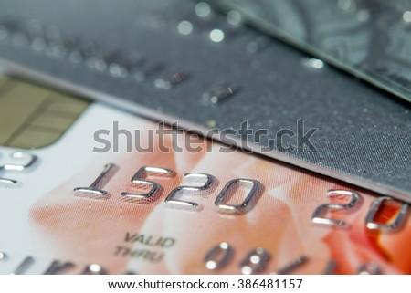Credit Card Macro shot ( Selective Focus) - stock photo