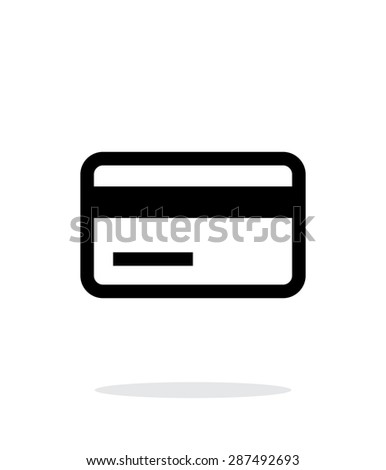 Credit card magnetic tape icon on white background. - stock photo
