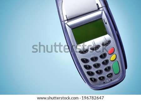 Credit card reader - stock photo