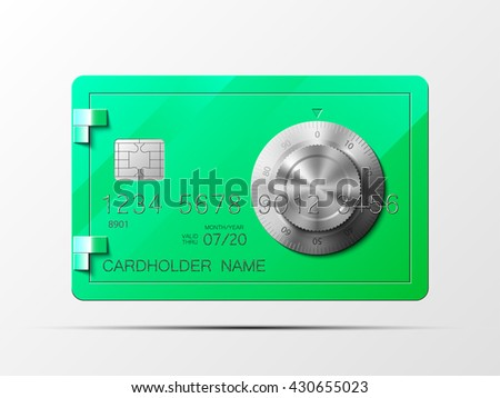 Credit card safe combination lock credit card safe combination lock credit card safe combination lock credit card safe combination lock credit card safe combination lock credit card safe combination - stock photo