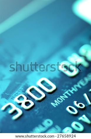 credit card. shallow depth of focus - stock photo