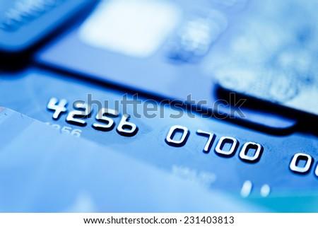 Credit cards  - stock photo