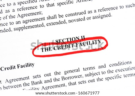 credit facility - stock photo