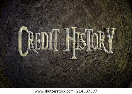 Credit History Concept text on background - stock photo
