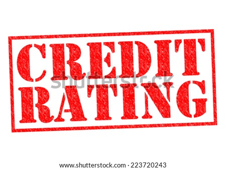 CREDIT RATING red Rubber Stamp over a white background. - stock photo