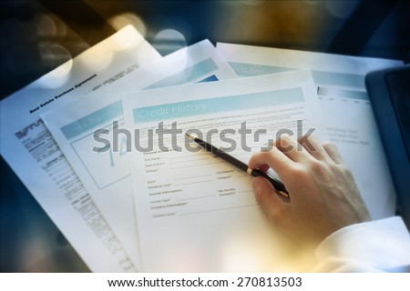 Credit report concept - stock photo