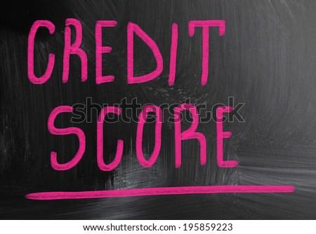 credit score - stock photo