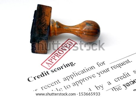 Credit scoring - stock photo