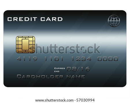 Creditcard with a dark theme - stock photo