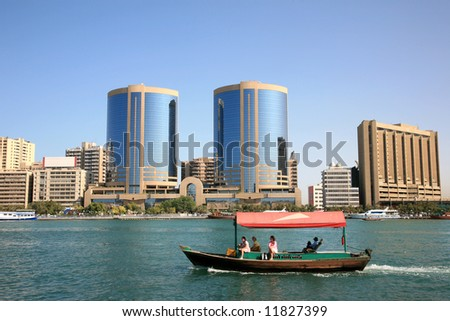 Creek Dubai Famous Place in UAE - stock photo