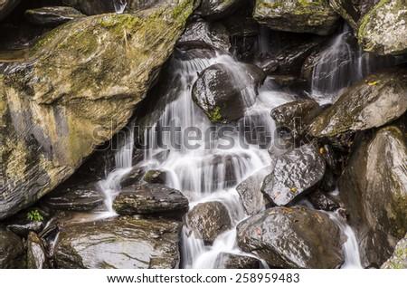 creek water fall - stock photo