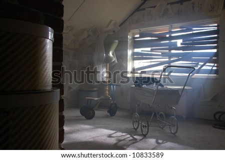 Creepy Attic - stock photo