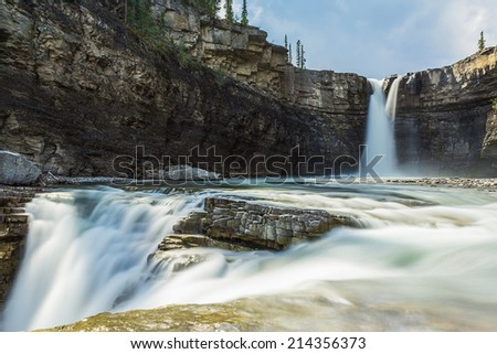 crescent falls beautiful alberta canada - stock photo