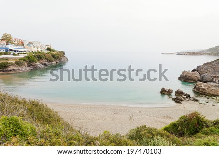 Crete - Greece - Beach of Bali - stock photo