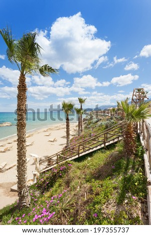 Crete - Greece - Beach of Chersonissos - stock photo