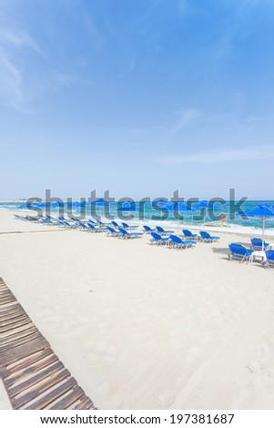 Crete - Greece - Beach of Rethimno - stock photo