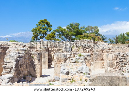 Crete - Greece - Festos - stock photo