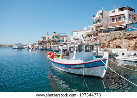 Crete - Greece - Harbor of Sisi - stock photo