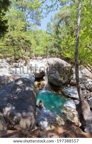 Crete - Greece - Idyll of the Samaria Gorge - stock photo