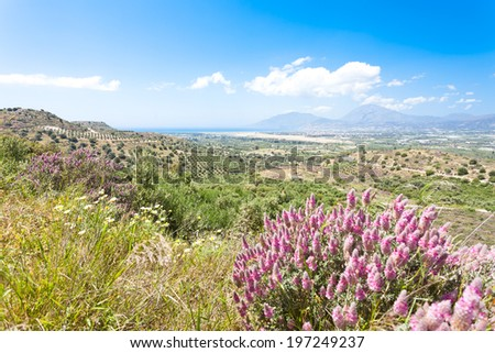 Crete - Greece - Landscape of Agios Ioannis - stock photo