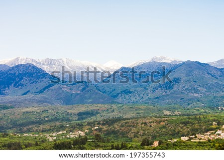 Crete - Greece - White mountains of Crete - stock photo