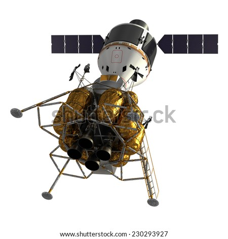 Crew Exploration Vehicle. 3D Model. - stock photo