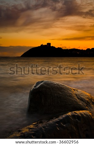 Cricceith Castle, North Wales - stock photo