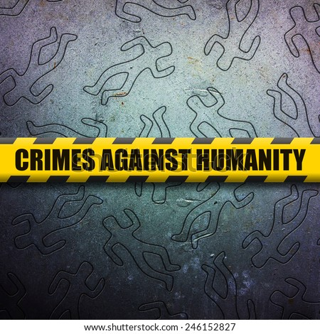 Crime against humanity - stock photo