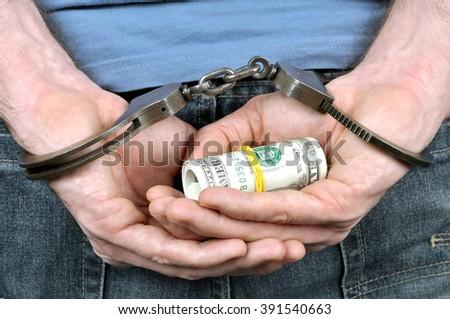 Crime and money - stock photo