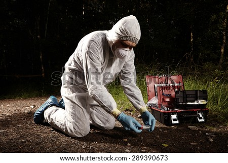 Crime committed here - stock photo