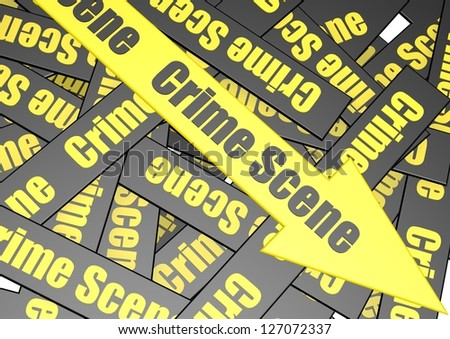 Crime scene banner - stock photo