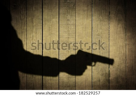 Crime Scene Silhouette Shadow Vintage Background. You can see more criminal scene in my public set. - stock photo