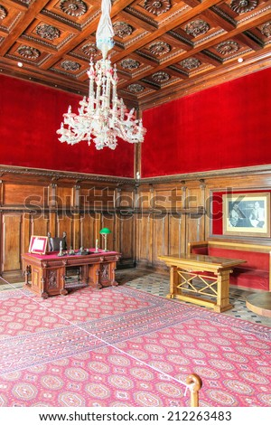 CRIMEA, LIVADIA - May 08.2009: Former South residence of the Russian emperors - stock photo