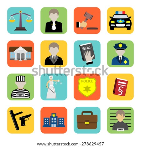 Criminal and prison icon,law,flat style - stock photo