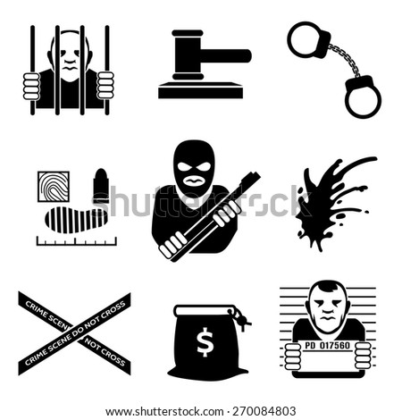 Criminal. Law and justice, legal and prison, handcuff and burglar - stock photo