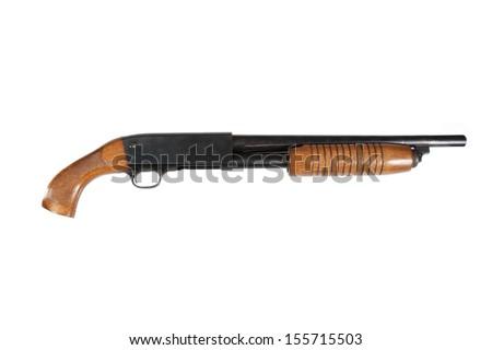 criminal sawn-off shotgun - stock photo