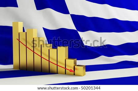 crisis in Greece - stock photo
